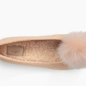 1ab93217e0b5 UGG Shoes - NEW UGG Andi Black Shearling Pouf Pom Pom Slippers